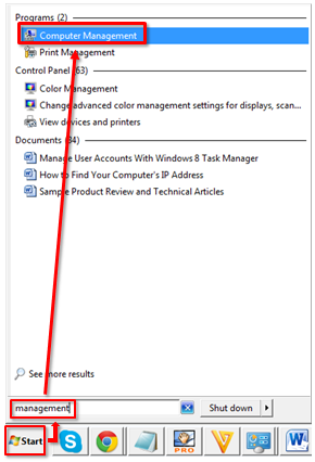 how to use computer management in windows 7