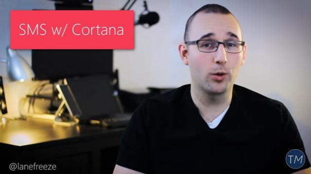 Cortana SMS