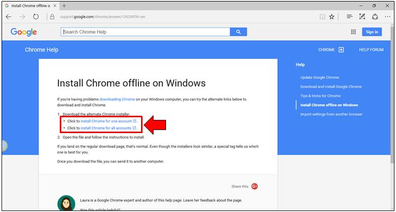 google chrome offline installer latest version